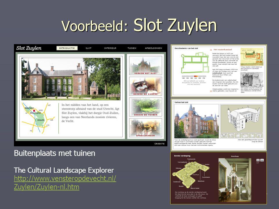 Voorbeeld: Slot Zuylen