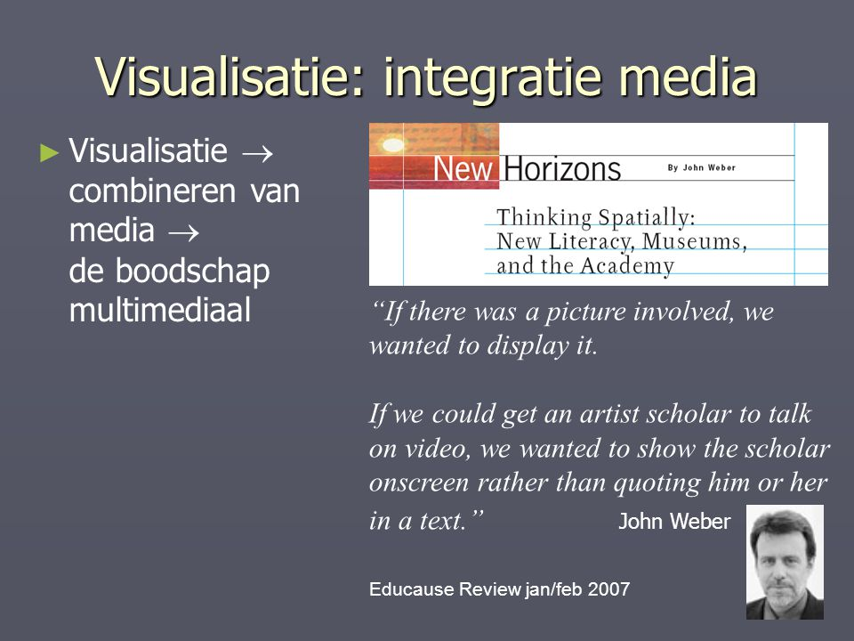 Visualisatie: integratie media