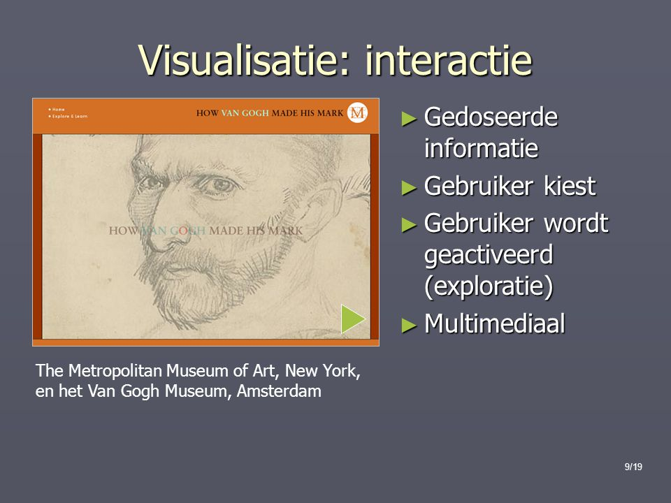 Visualisatie: interactie