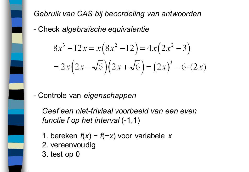 Gebruik van CAS bij beoordeling van antwoorden