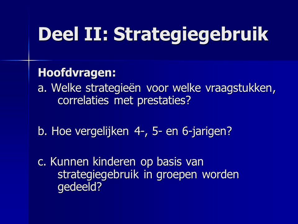 Deel II: Strategiegebruik