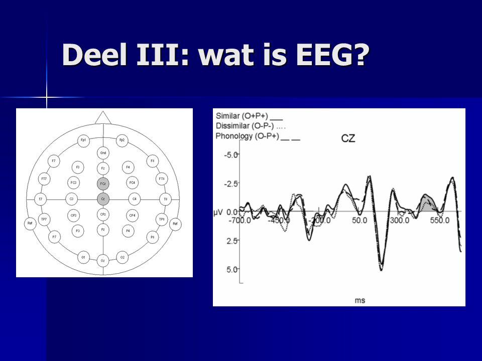 Deel III: wat is EEG