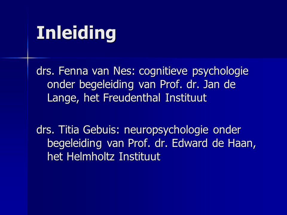 Inleiding drs. Fenna van Nes: cognitieve psychologie onder begeleiding van Prof. dr. Jan de Lange, het Freudenthal Instituut.