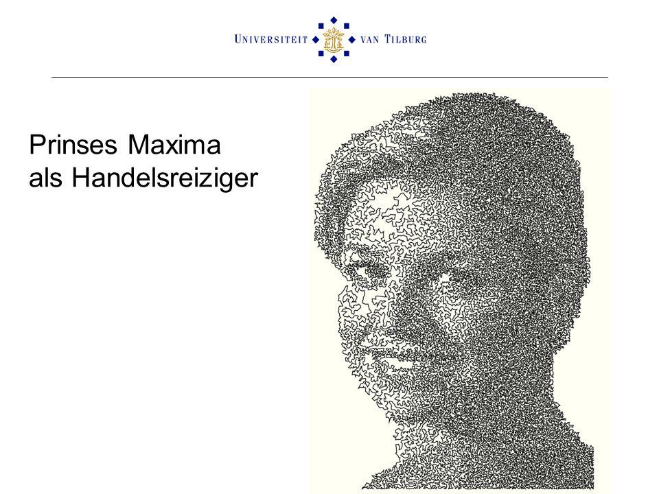 Prinses Maxima als Handelsreiziger