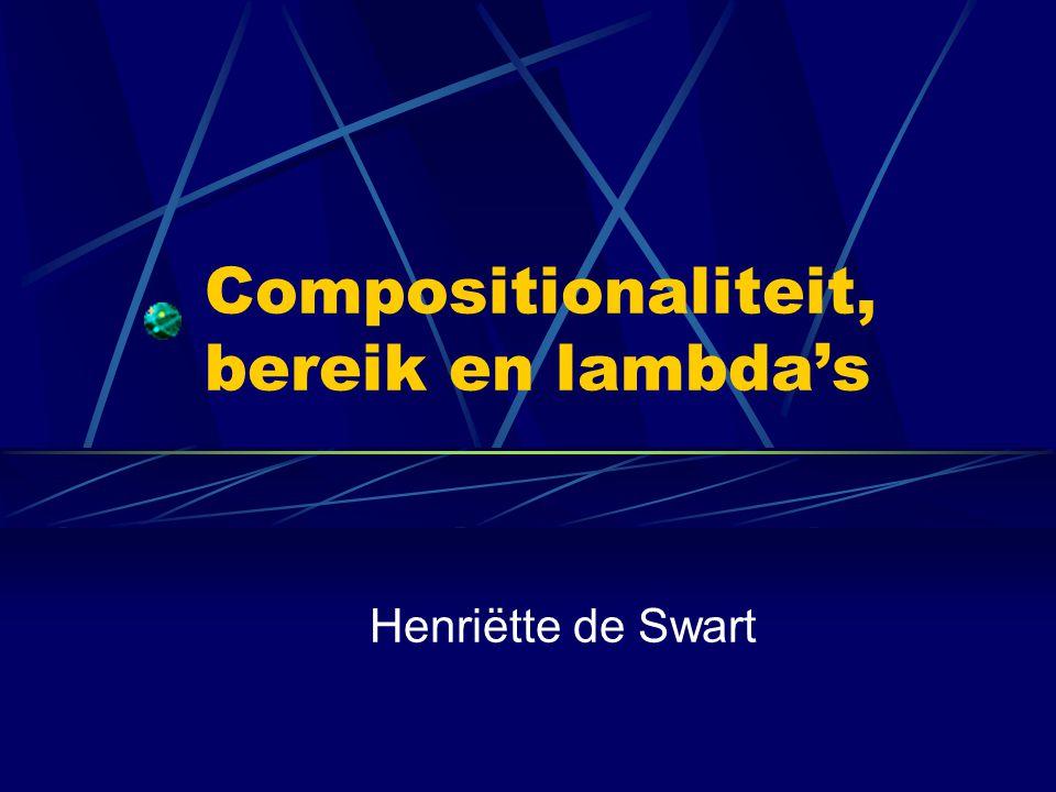 Compositionaliteit, bereik en lambda's