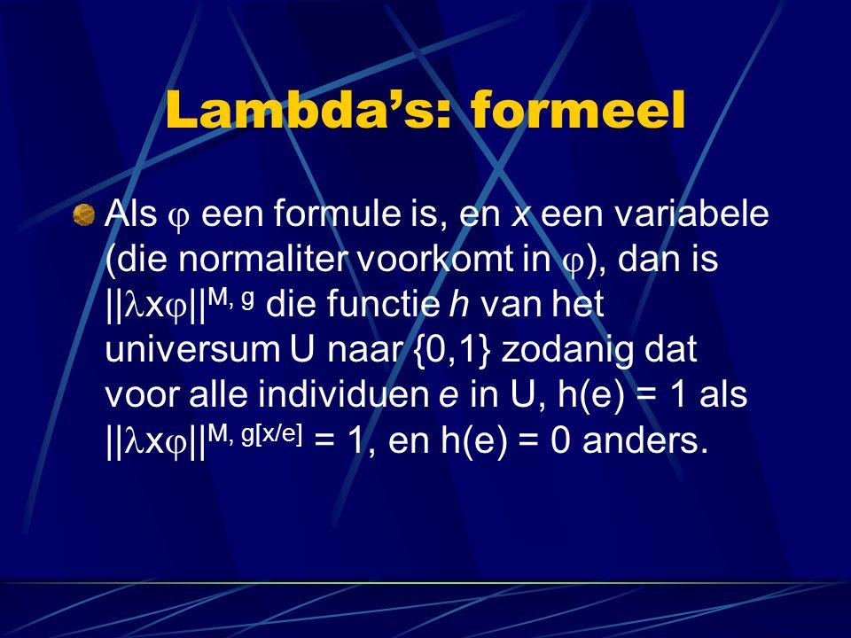 Lambda's: formeel