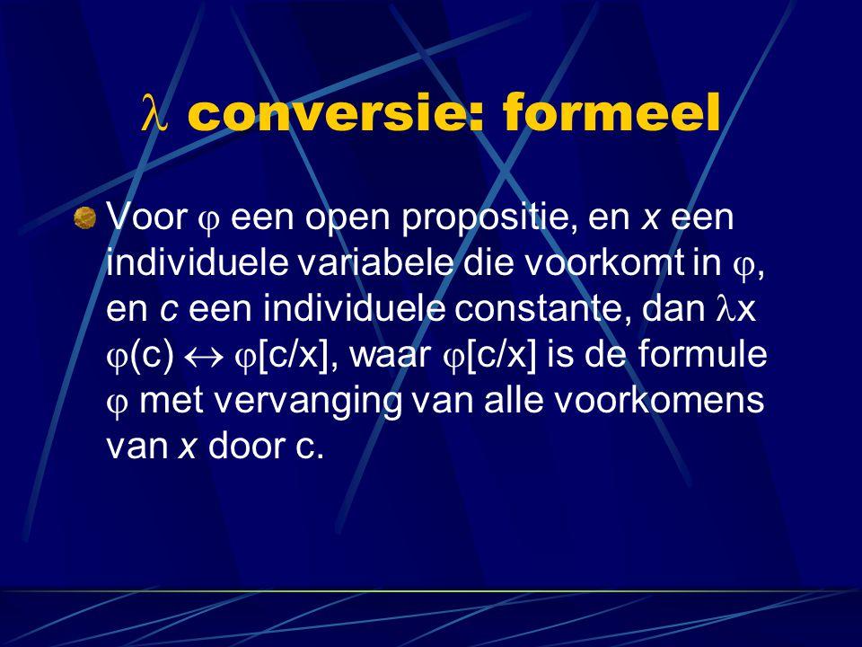  conversie: formeel