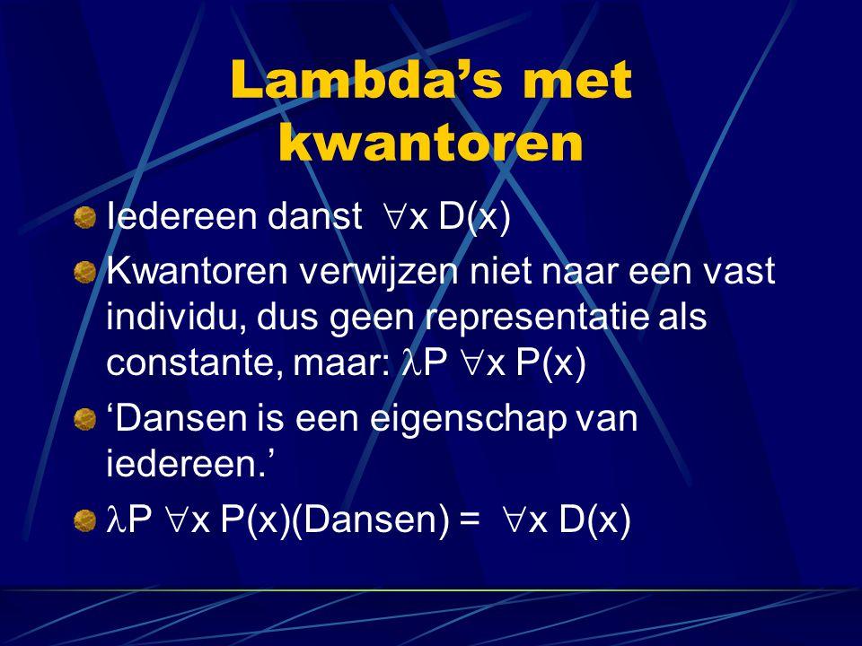 Lambda's met kwantoren