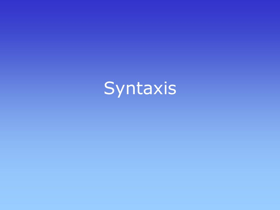 Syntaxis