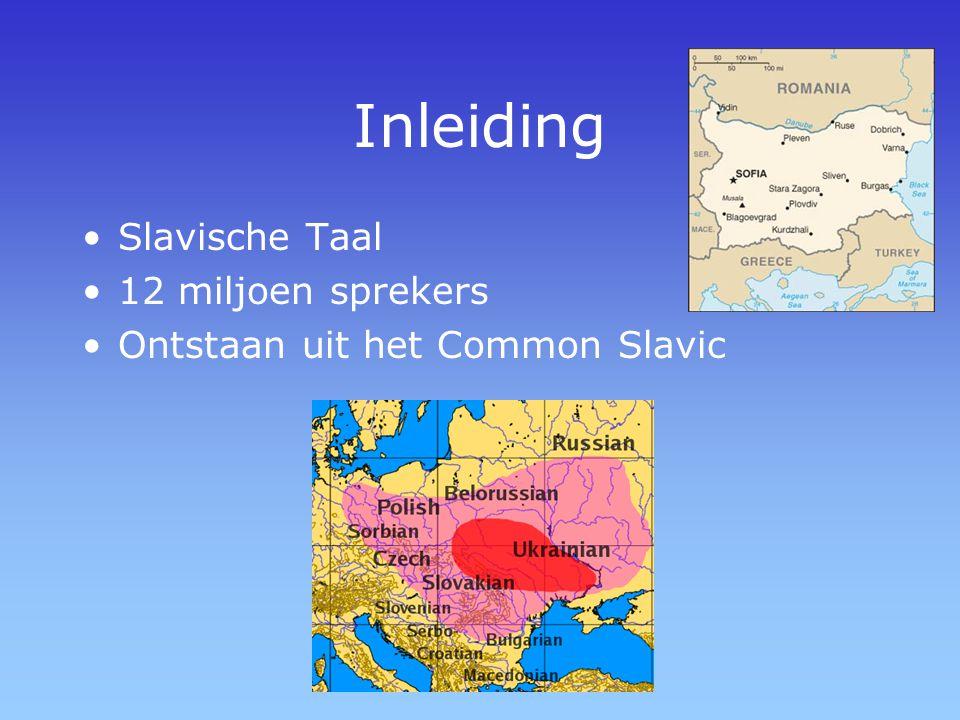 Inleiding Slavische Taal 12 miljoen sprekers