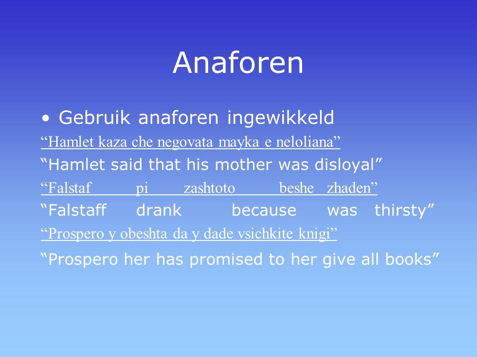 Anaforen Gebruik anaforen ingewikkeld