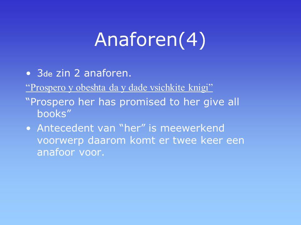 Anaforen(4) 3de zin 2 anaforen.