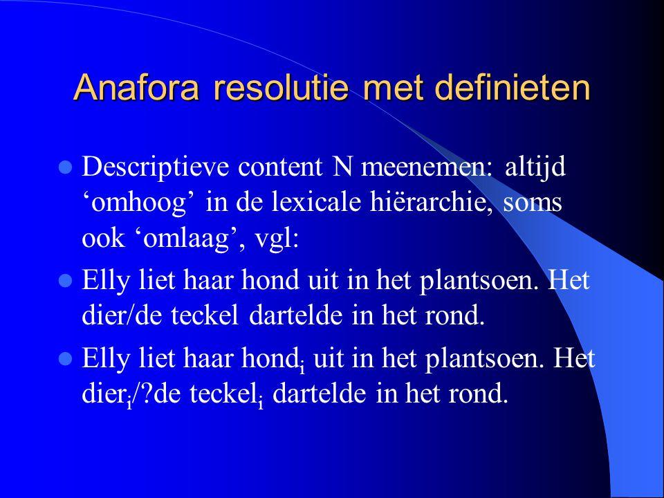 Anafora resolutie met definieten