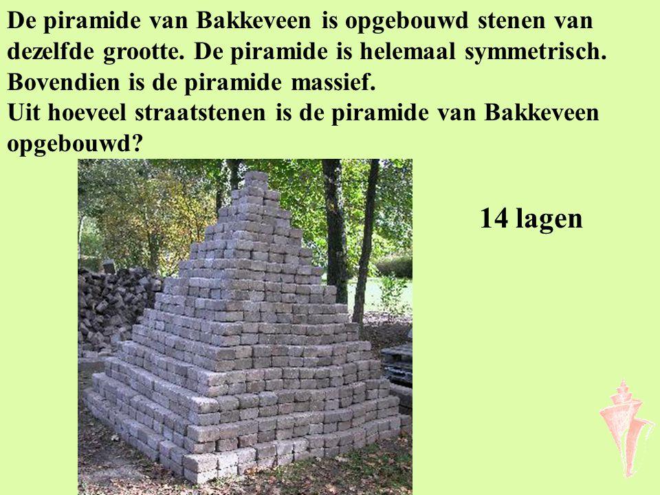 De piramide van Bakkeveen is opgebouwd stenen van dezelfde grootte