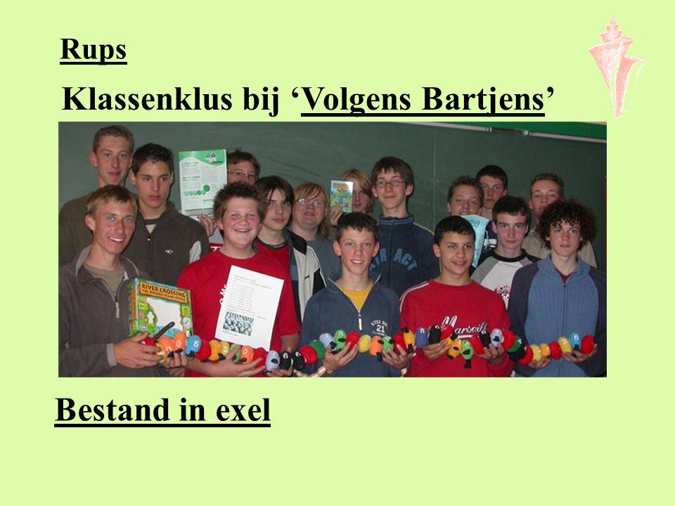 Klassenklus bij 'Volgens Bartjens'