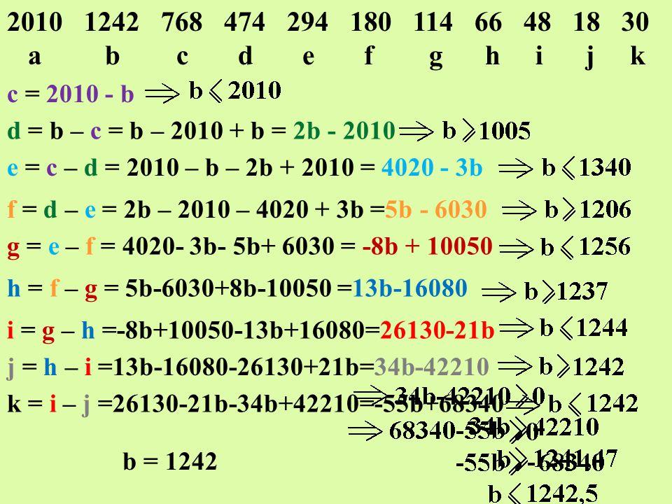 2010 1242 768 474 294 180 114 66 48 18 30 a b c d e f g h i j k