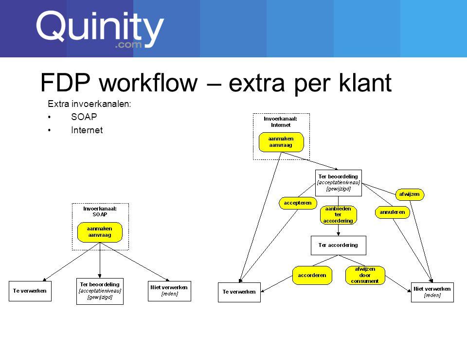 FDP workflow – extra per klant