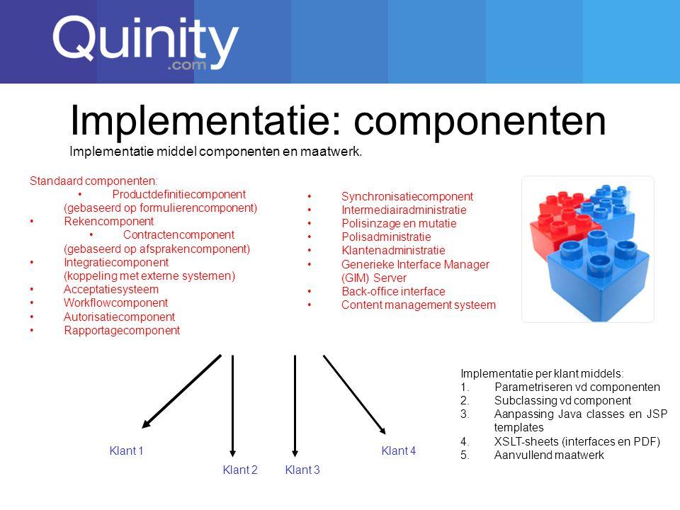 Implementatie: componenten