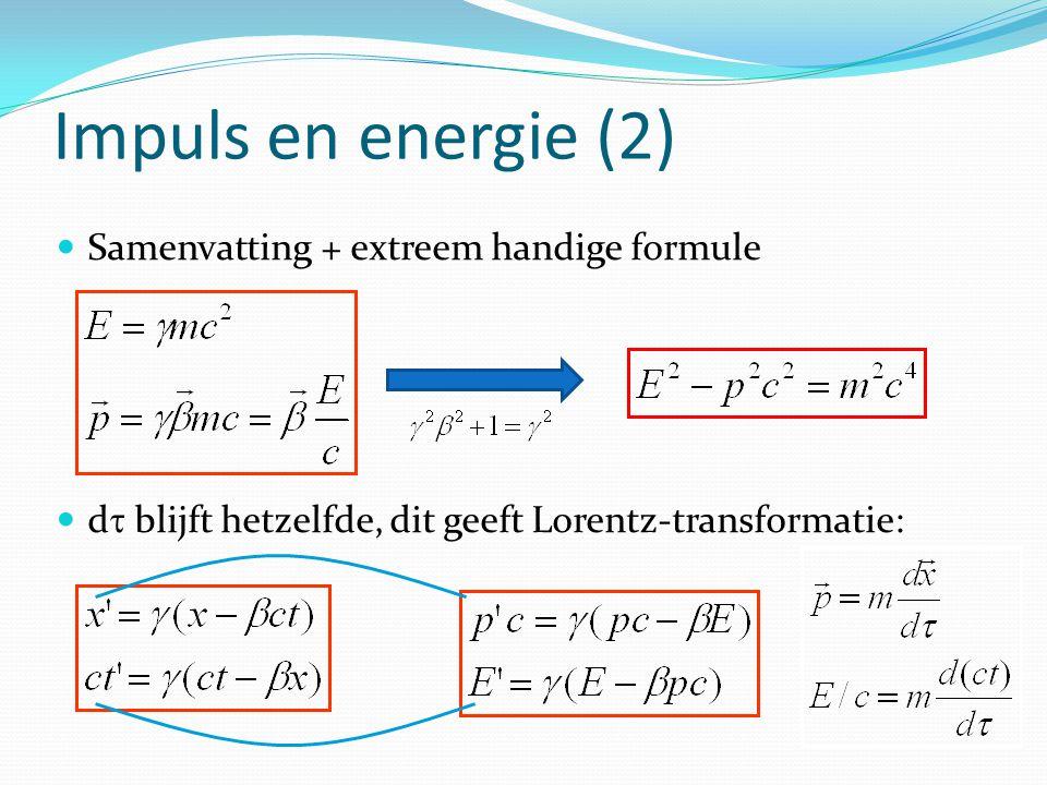 Impuls en energie (2) Samenvatting + extreem handige formule