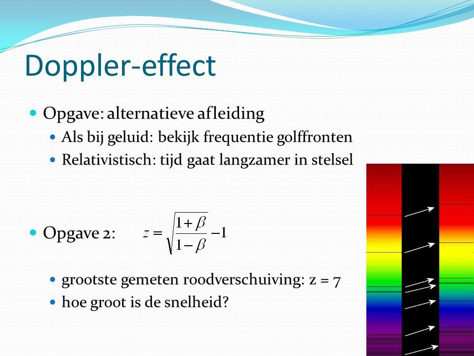 Doppler-effect Opgave: alternatieve afleiding Opgave 2: