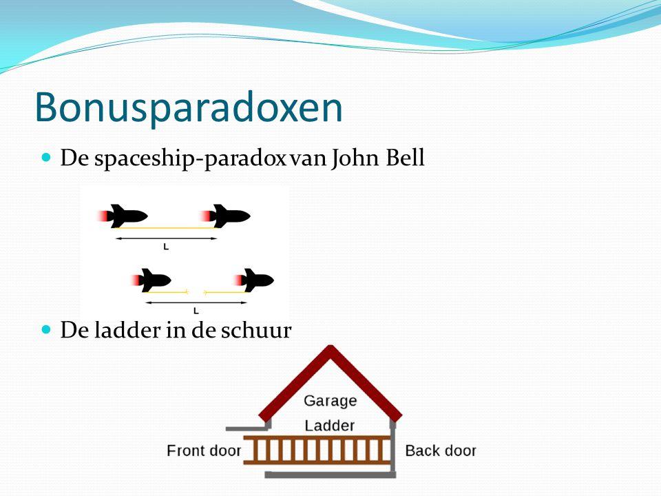 Bonusparadoxen De spaceship-paradox van John Bell