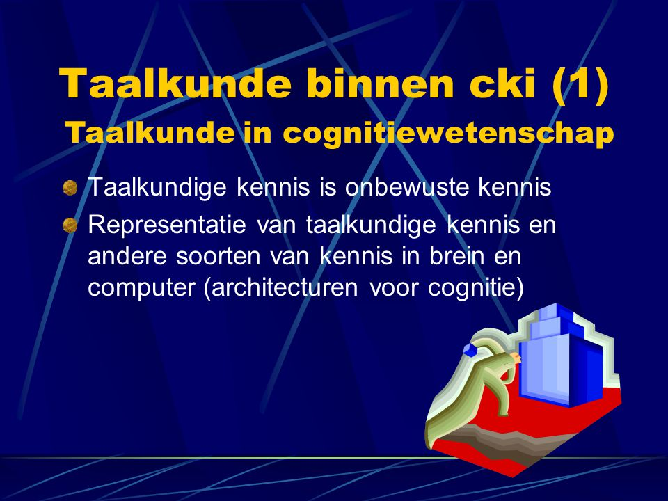 Taalkunde binnen cki (1)