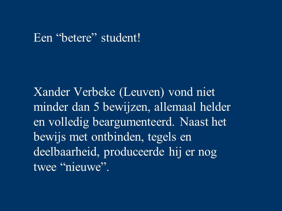 Een betere student!