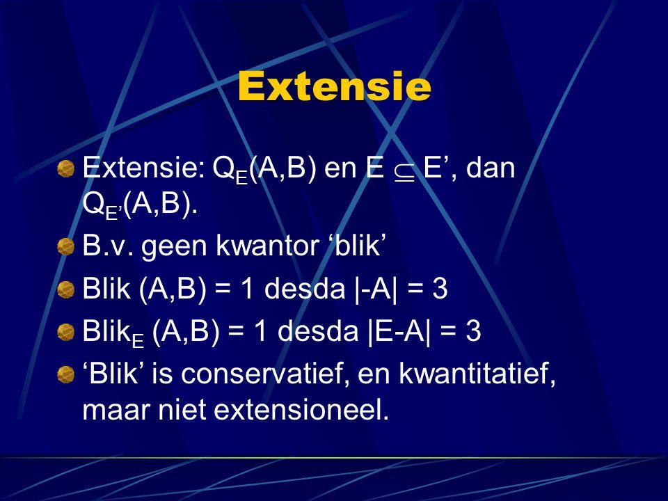 Extensie Extensie: QE(A,B) en E  E', dan QE'(A,B).