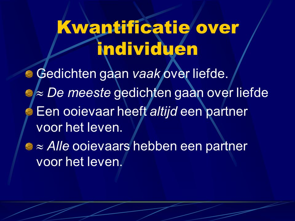 Kwantificatie over individuen