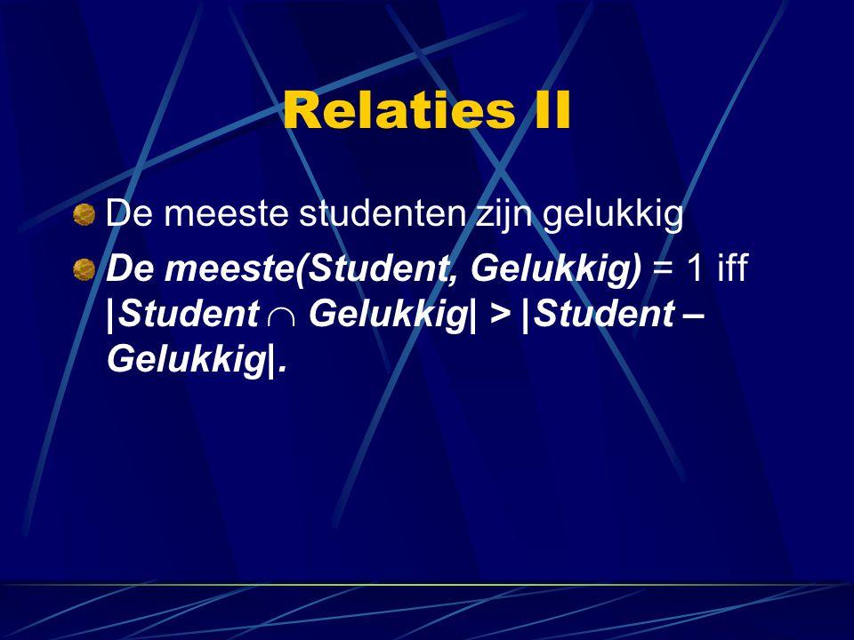 Relaties II De meeste studenten zijn gelukkig