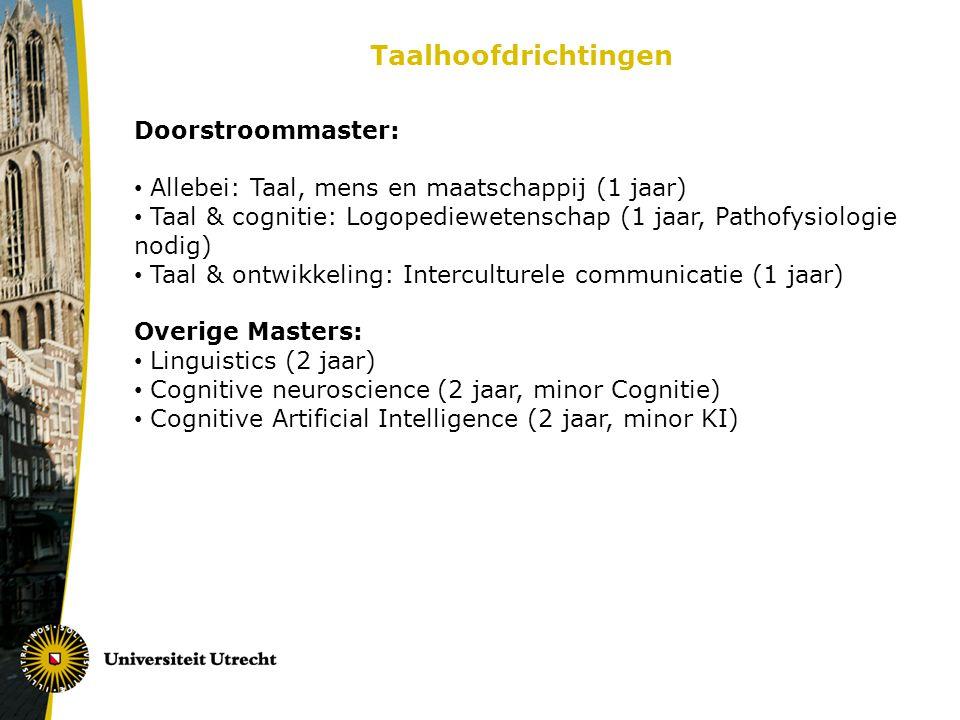 Taalhoofdrichtingen Doorstroommaster: