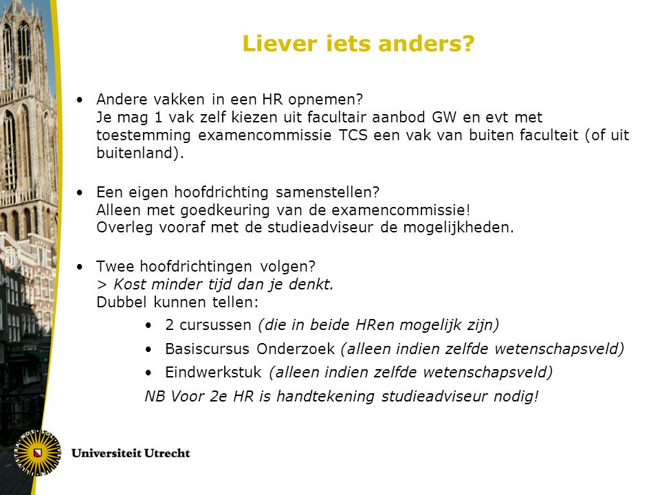 Liever iets anders