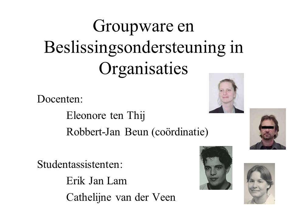 Groupware en Beslissingsondersteuning in Organisaties