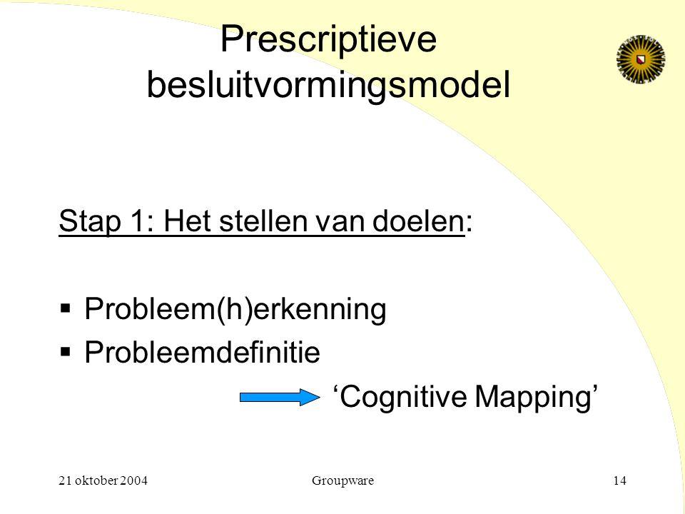 Prescriptieve besluitvormingsmodel