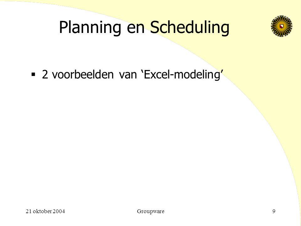Planning en Scheduling