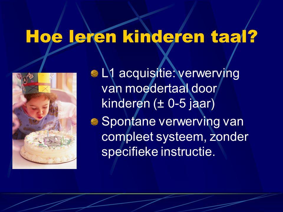 Hoe leren kinderen taal