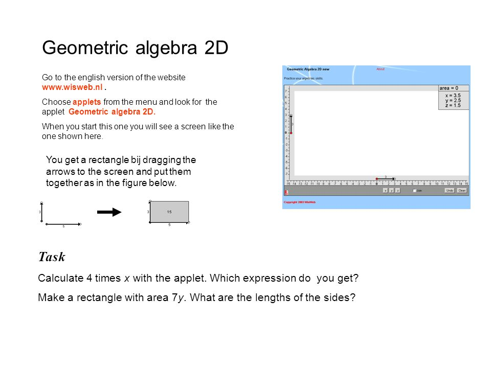 Geometric algebra 2D Task