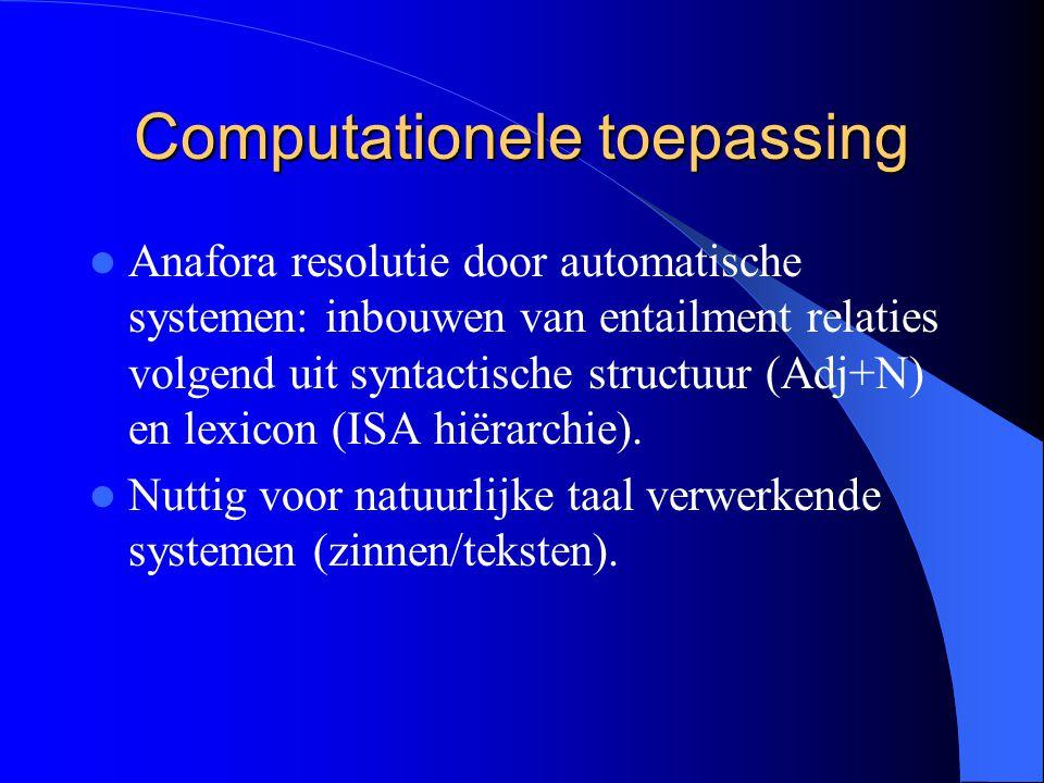 Computationele toepassing
