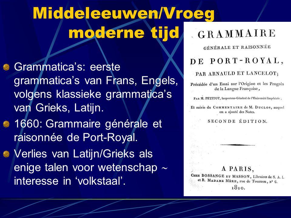 Middeleeuwen/Vroeg moderne tijd