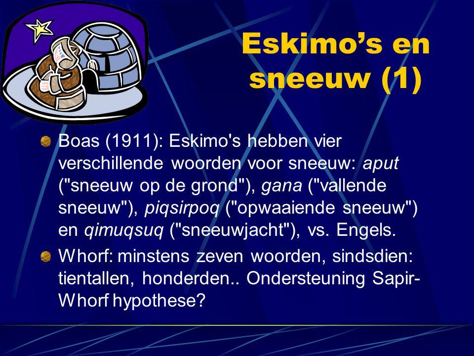 Eskimo's en sneeuw (1)