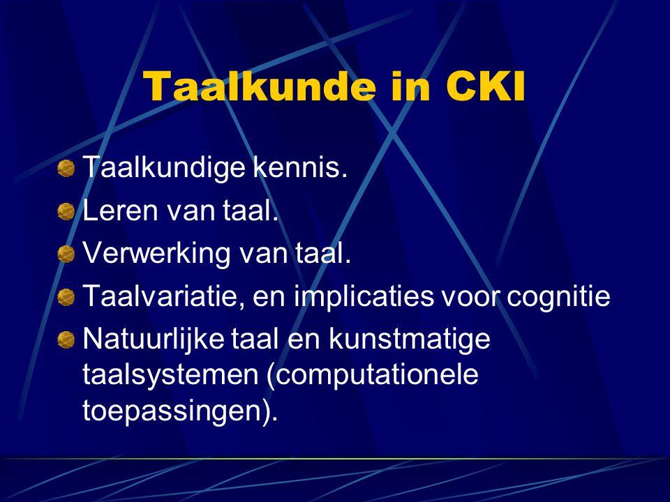 Taalkunde in CKI Taalkundige kennis. Leren van taal.