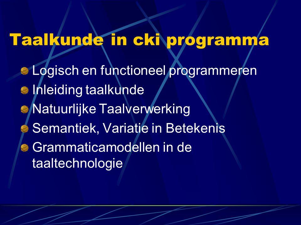 Taalkunde in cki programma