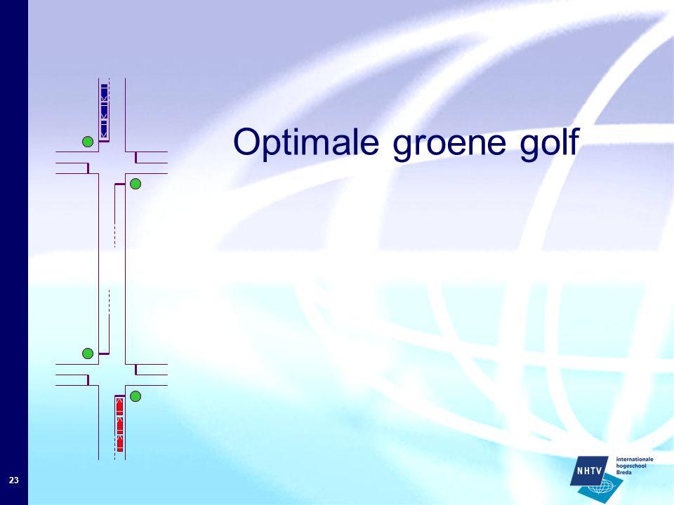 L/v L/v L L/v Optimale groene golf Cyclustijd C1= 2L/v 1 2