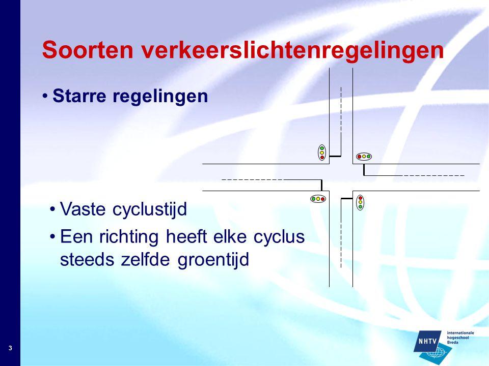 Soorten verkeerslichtenregelingen