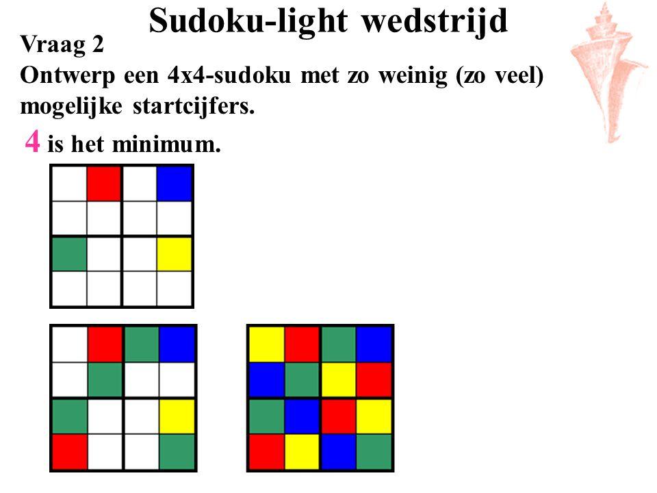 Sudoku-light wedstrijd