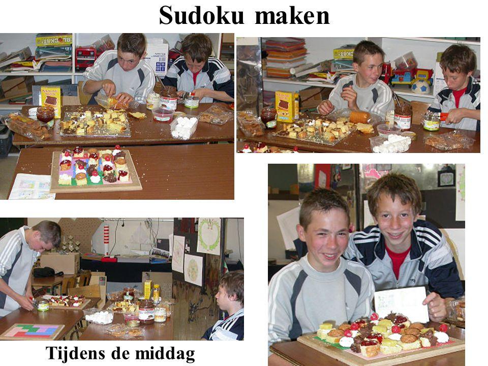 Sudoku maken Tijdens de middag