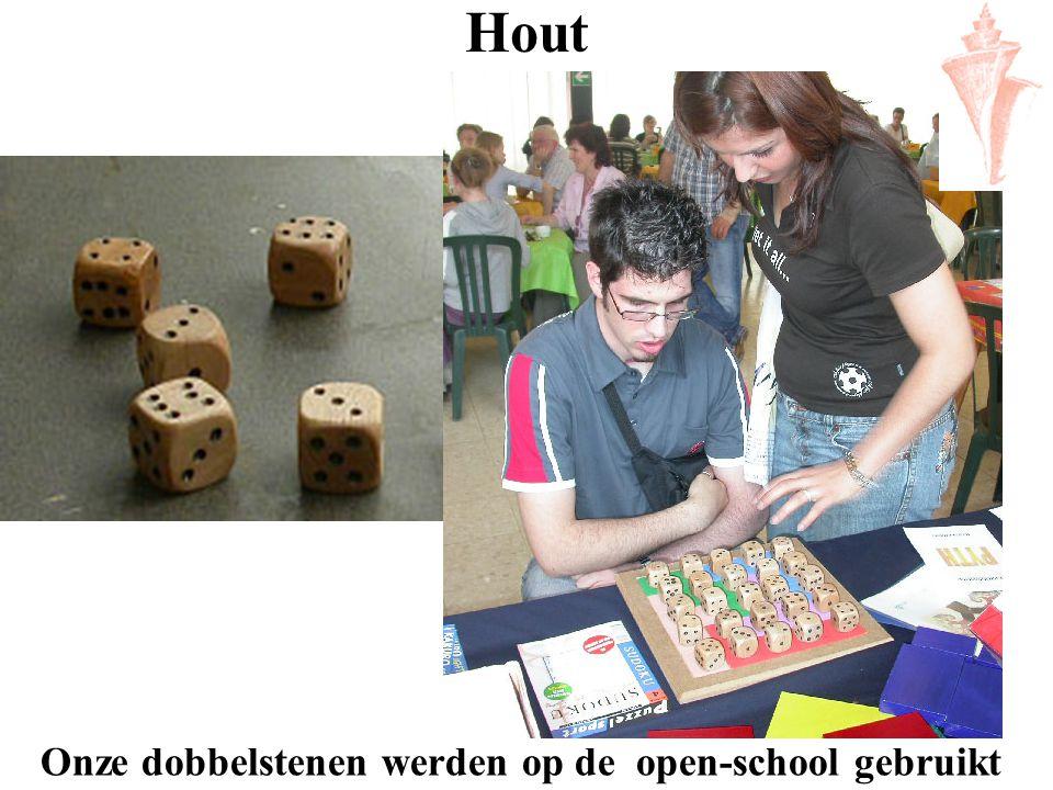 Onze dobbelstenen werden op de open-school gebruikt