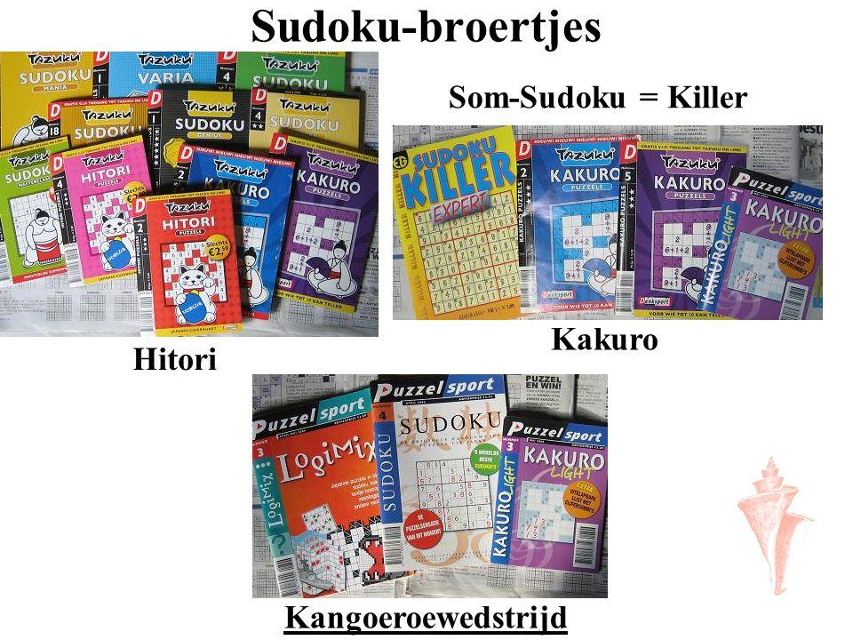 Sudoku-broertjes Som-Sudoku = Killer Kakuro Hitori Kangoeroewedstrijd