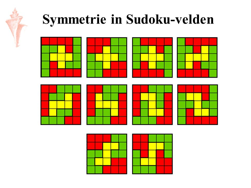 Symmetrie in Sudoku-velden