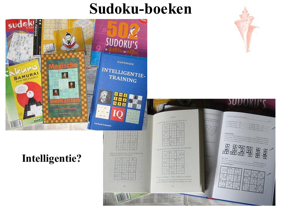 Sudoku-boeken Intelligentie